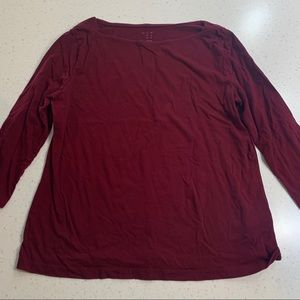 A New Day maroon boat neck top